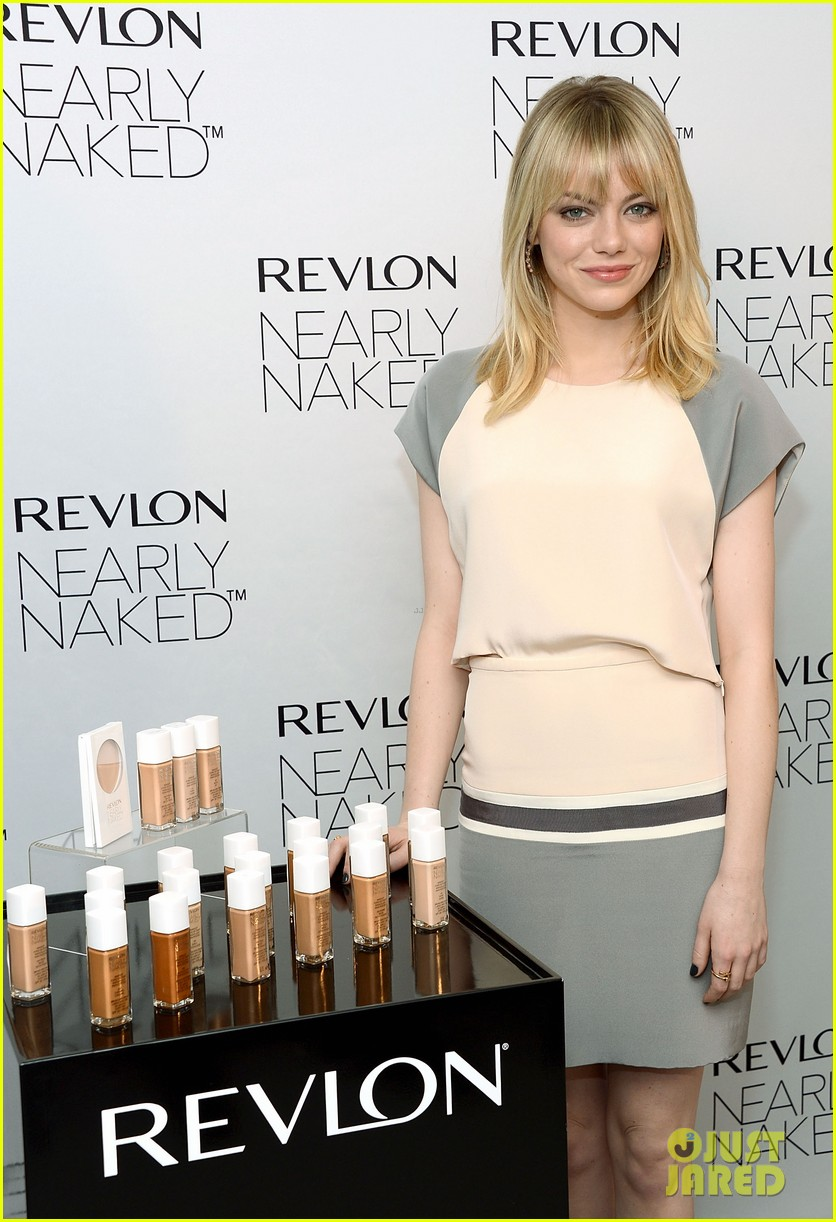 emma stone revlons nearly naked makeup launch 092769656
