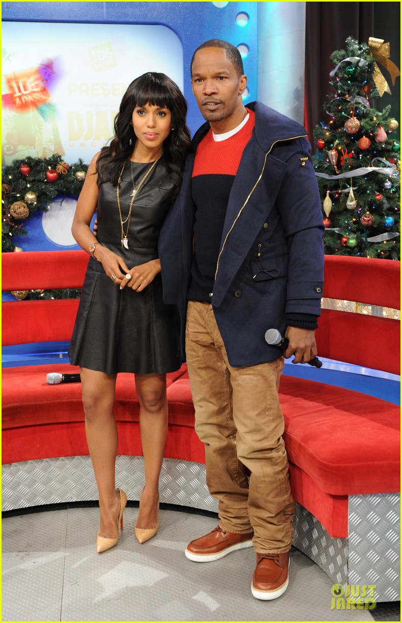 kerry washington & jamie foxx 106 & park appearance 052776279