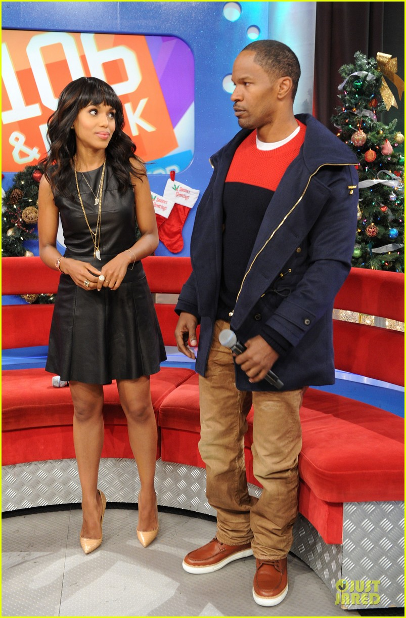 kerry washington & jamie foxx 106 & park appearance 102776284