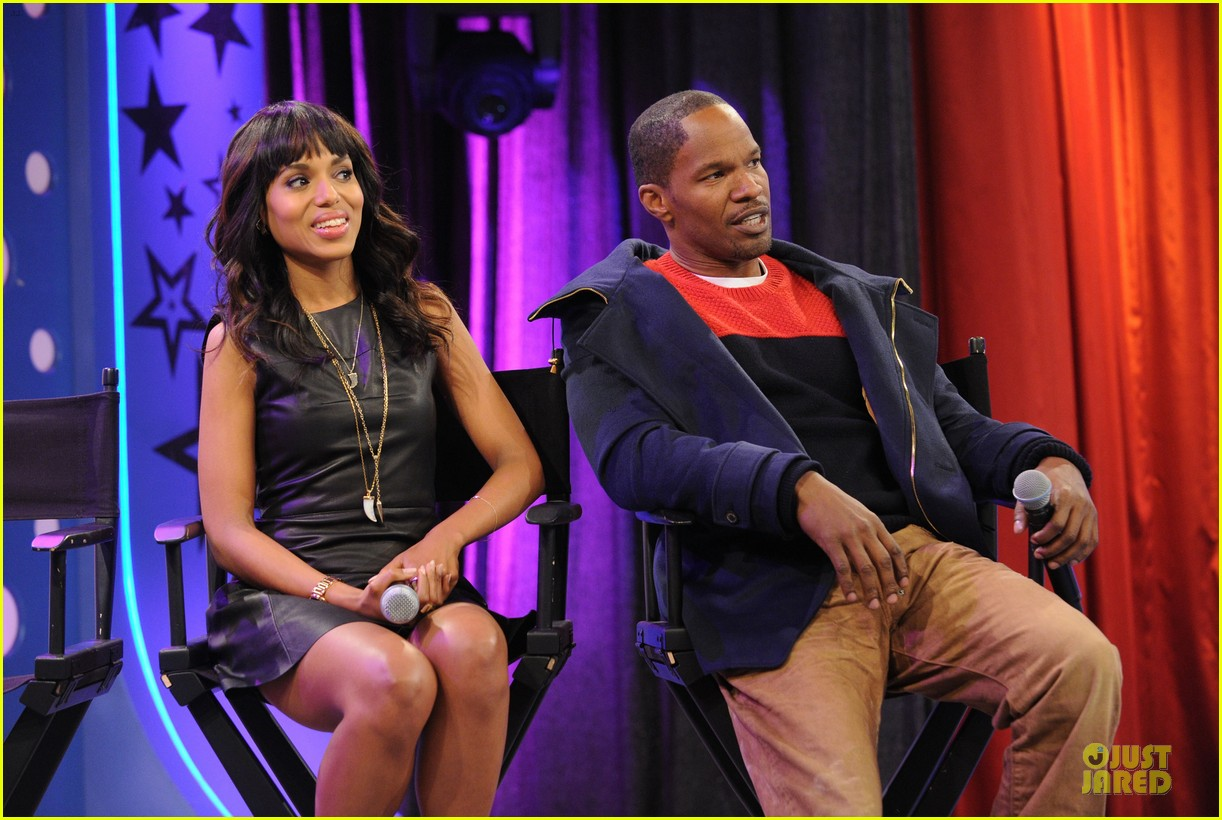 kerry washington & jamie foxx 106 & park appearance 232776297
