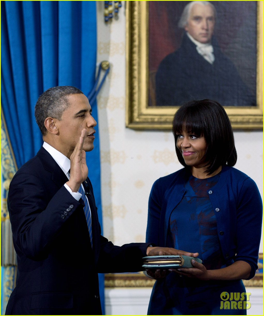 president barack obama sworn into office launches second term 24