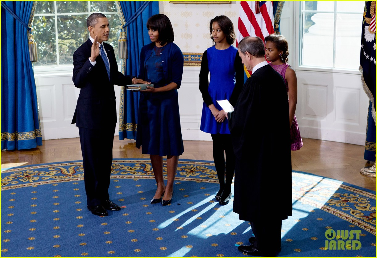 president barack obama sworn into office launches second term 252795416