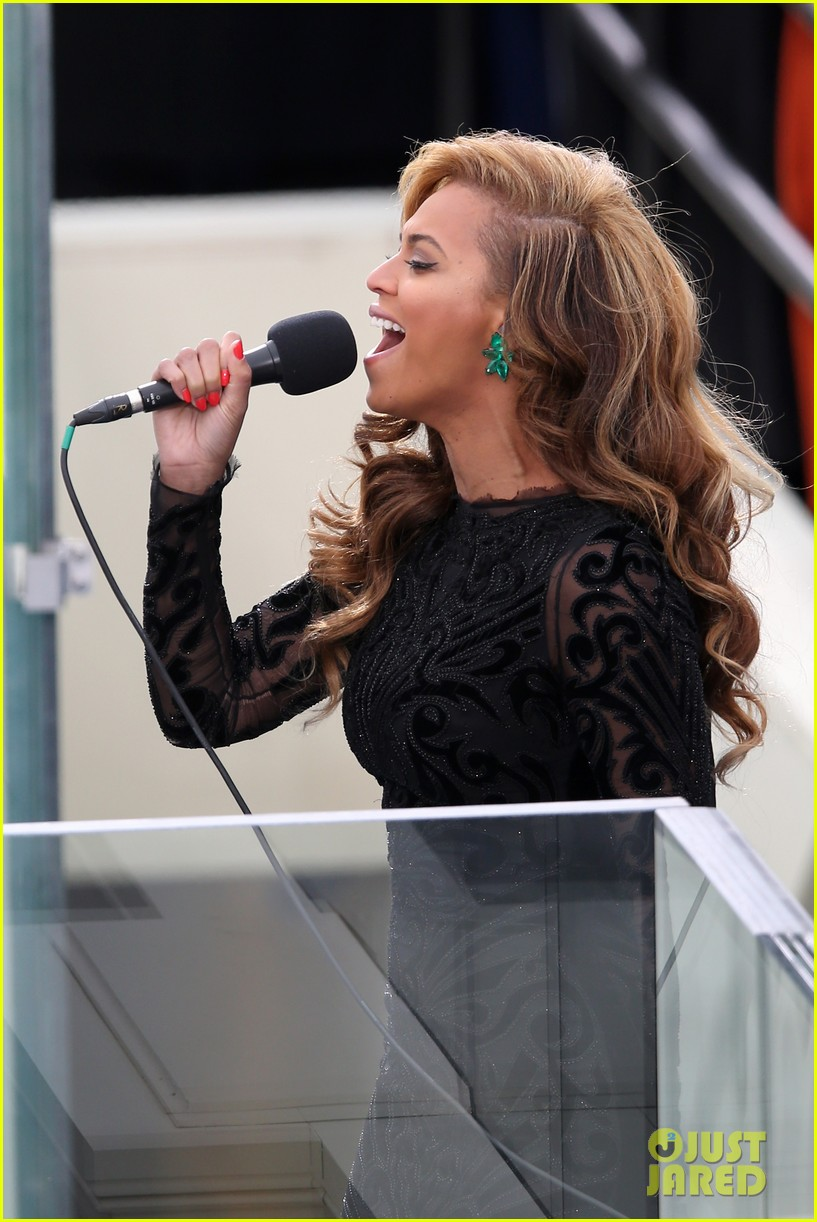 beyonce national anthem inauguration performance watch now 052796136