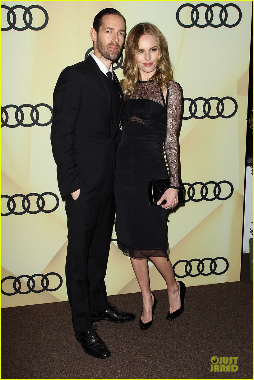 kate bosworth & michael polish sheer golden globe kick off party 012786076