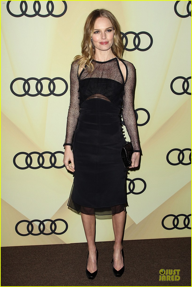 kate bosworth & michael polish sheer golden globe kick off party 14