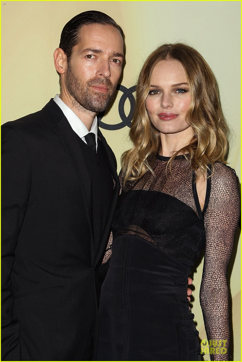 kate bosworth & michael polish sheer golden globe kick off party 21
