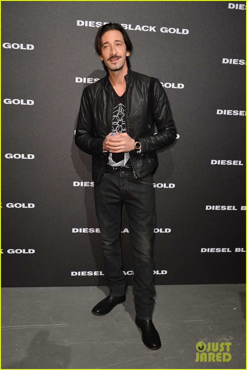 adrien brody luke evans diesel milan fashion show 05