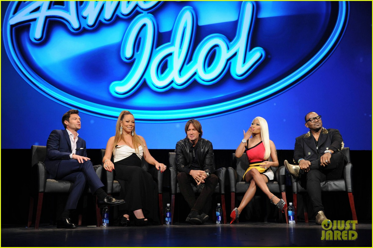 mariah carey nicki minaj american idol premiere screening 17
