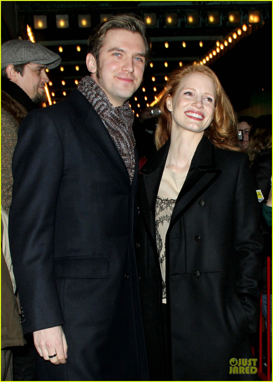 jessica chastain & dan stevens heiress autograph signing 15