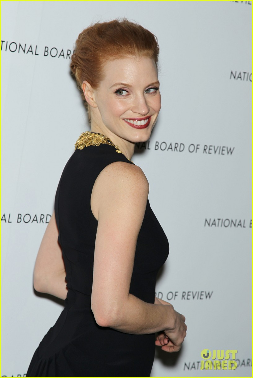 jessica chastain national board of review awards gala 2013 02