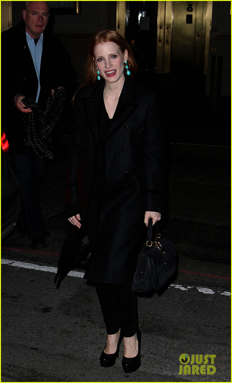 jessica chastain back to work after new years eve 01