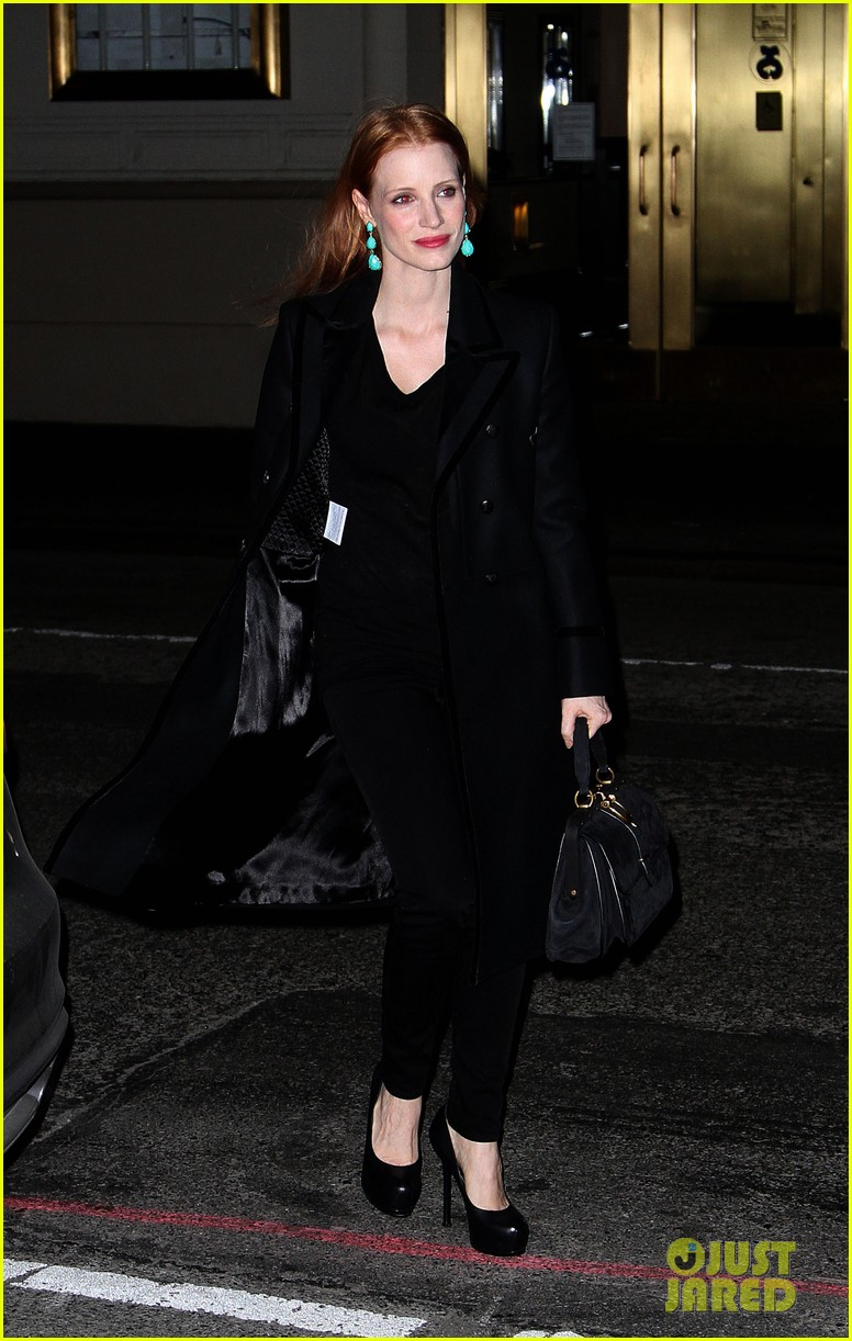 jessica chastain back to work after new years eve 03