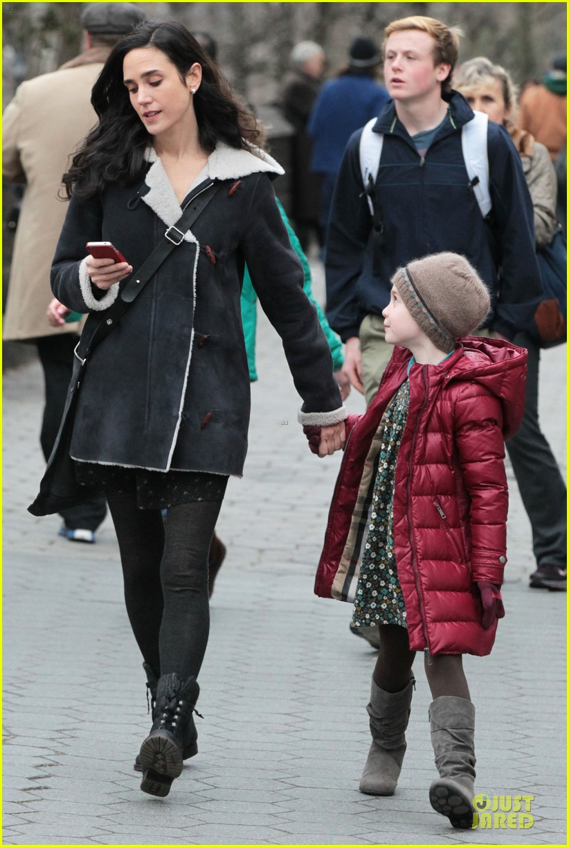 jennifer connelly agnes visits winters tale set 09