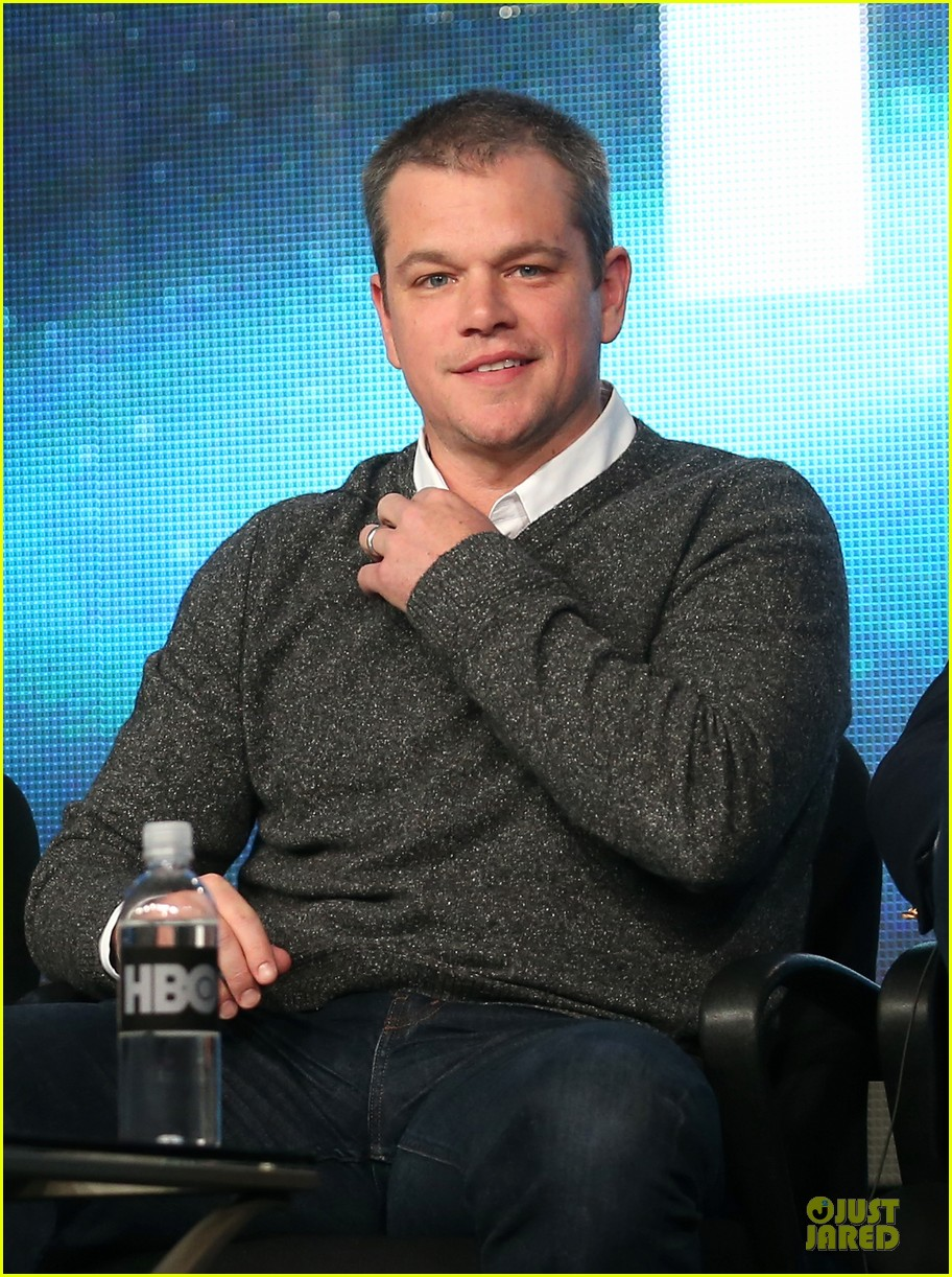 matt damon & michael douglas behind the candlebra tca panel 02