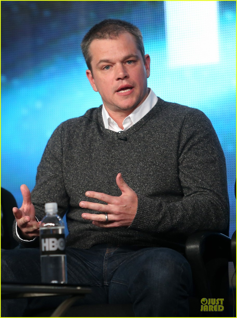 matt damon & michael douglas behind the candlebra tca panel 112784988