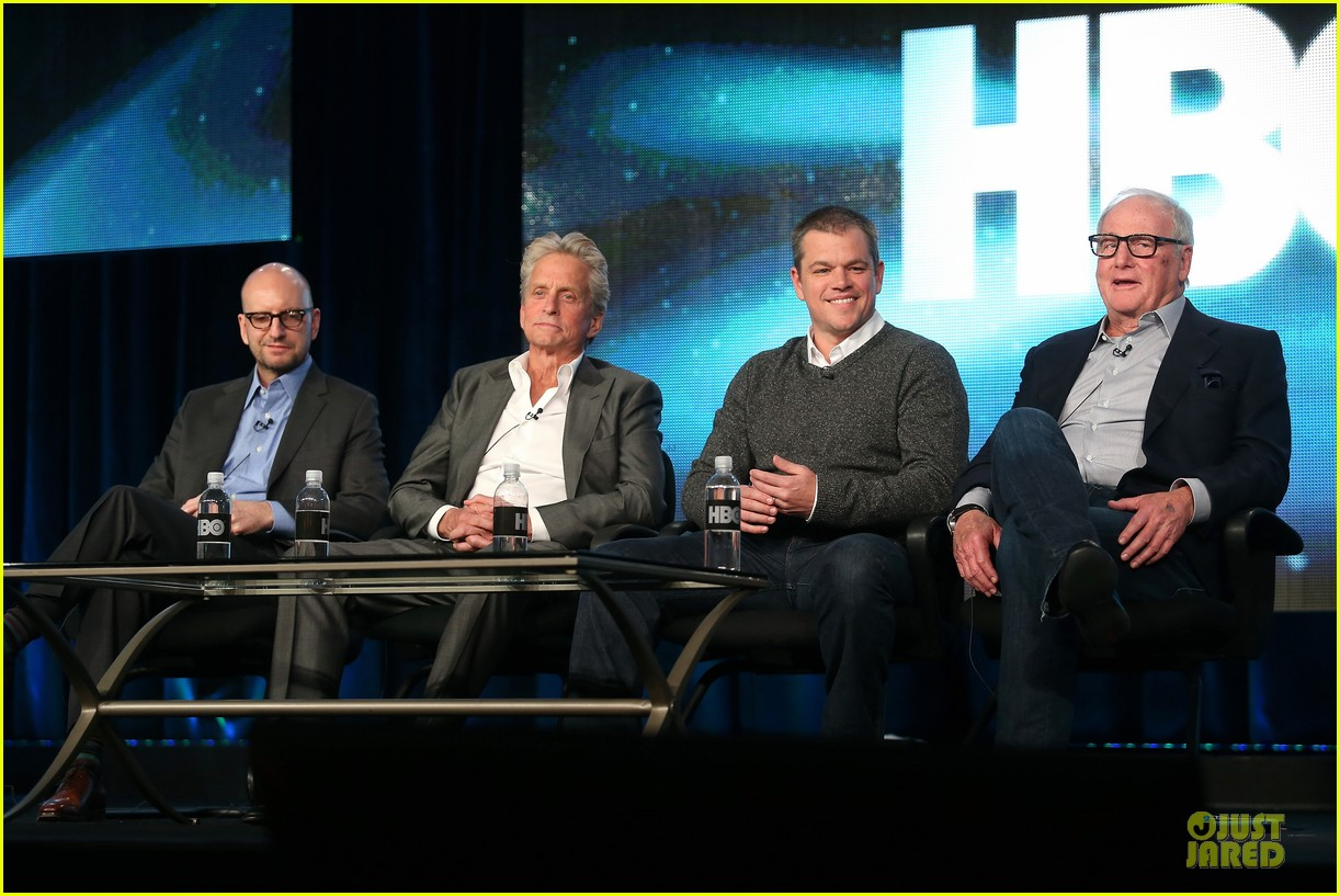 matt damon & michael douglas behind the candlebra tca panel 18