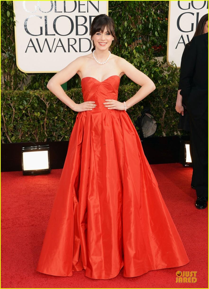 Zooey Deschanel Golden Globes 2013 Zooey Deschanel - Gold...
