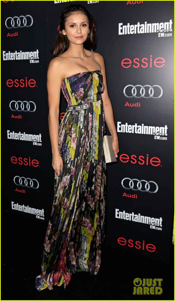 nina dobrev eliza coupe sag awards pre party arrival 13