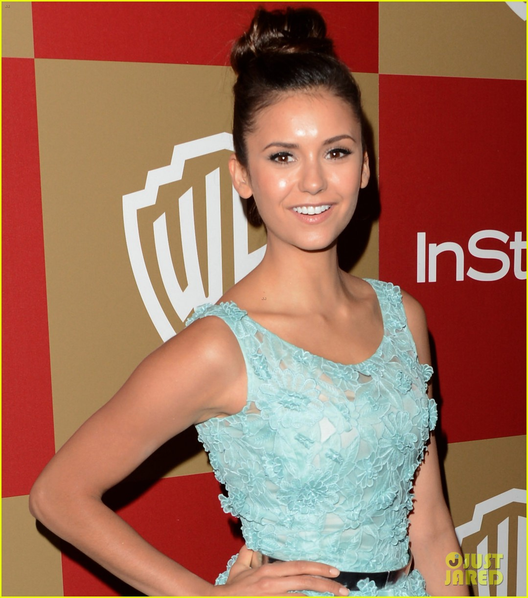 nina dobrev instyle golden globes party 2013 08