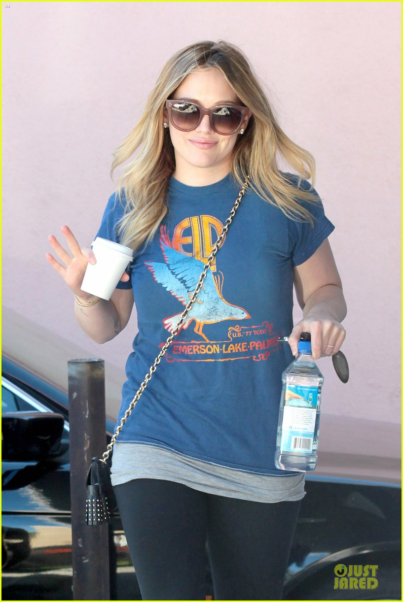 hilary duff post holiday piloxing session 02
