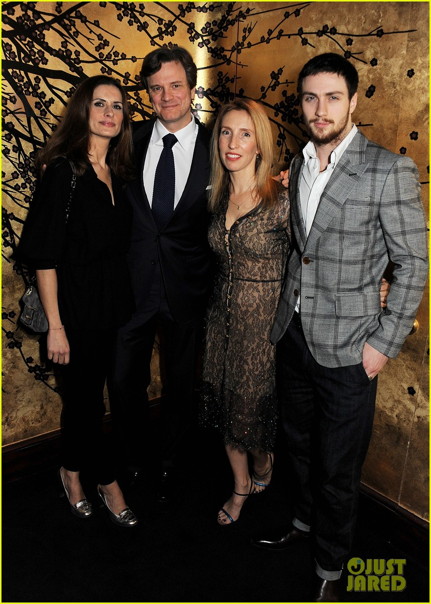 aaron taylor johnson colin firth tom ford party 032787630