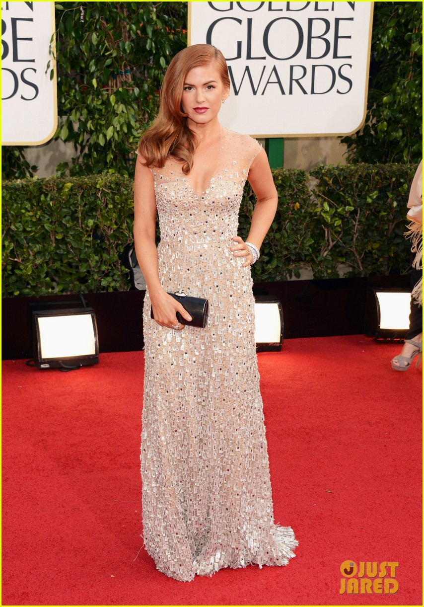 isla fisher golden globes 2013 red carpet 022790891