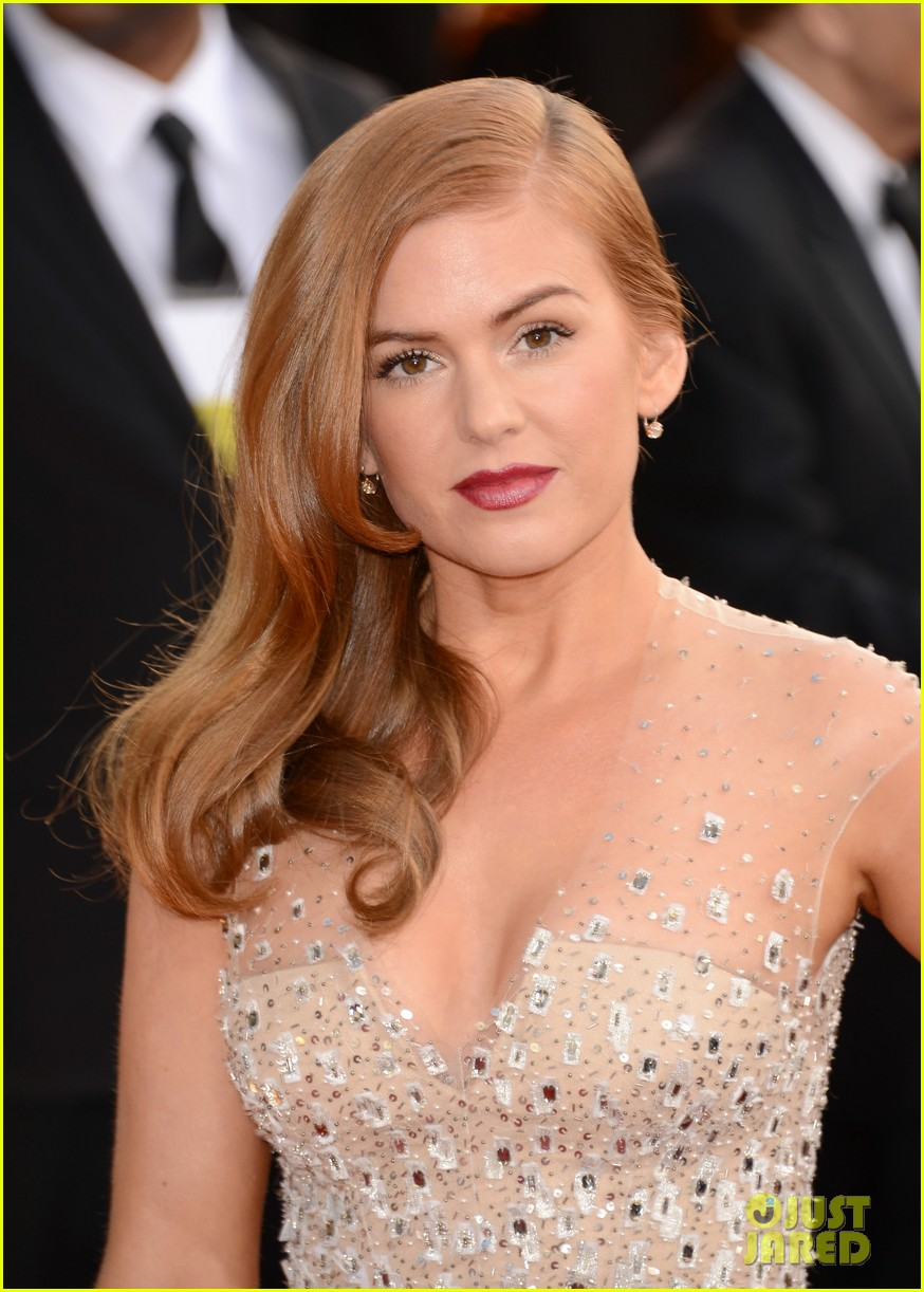 isla fisher golden globes 2013 red carpet 03