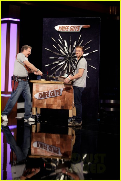 ryan gosling will ferrell knife guys for jimmy kimmel live 08