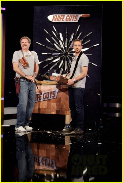 ryan gosling will ferrell knife guys for jimmy kimmel live 092788313