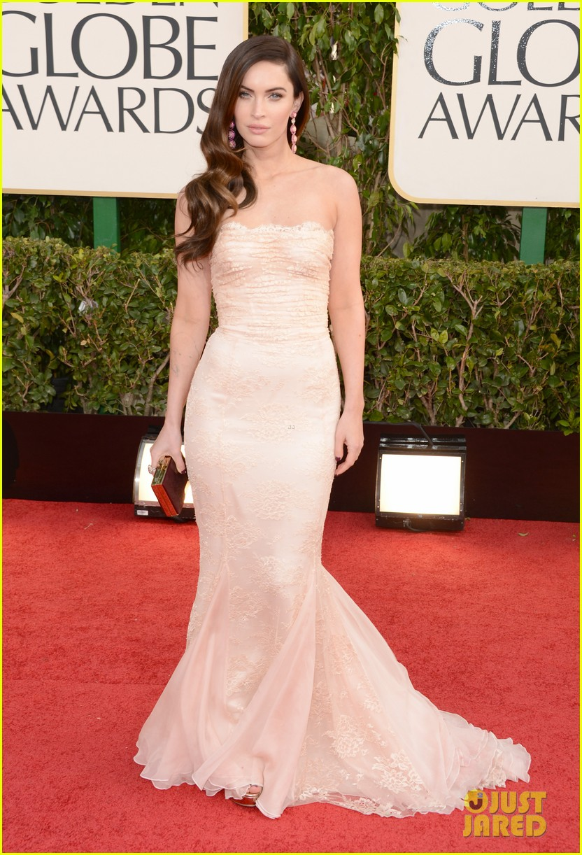 megan fox golden globes 2013 red carpet with brian austin green 052790848