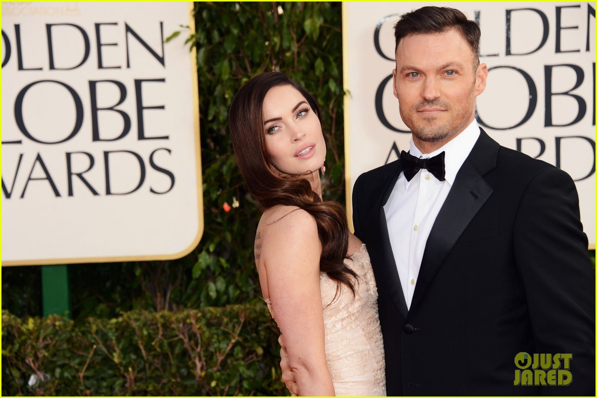 megan fox golden globes 2013 red carpet with brian austin green 07