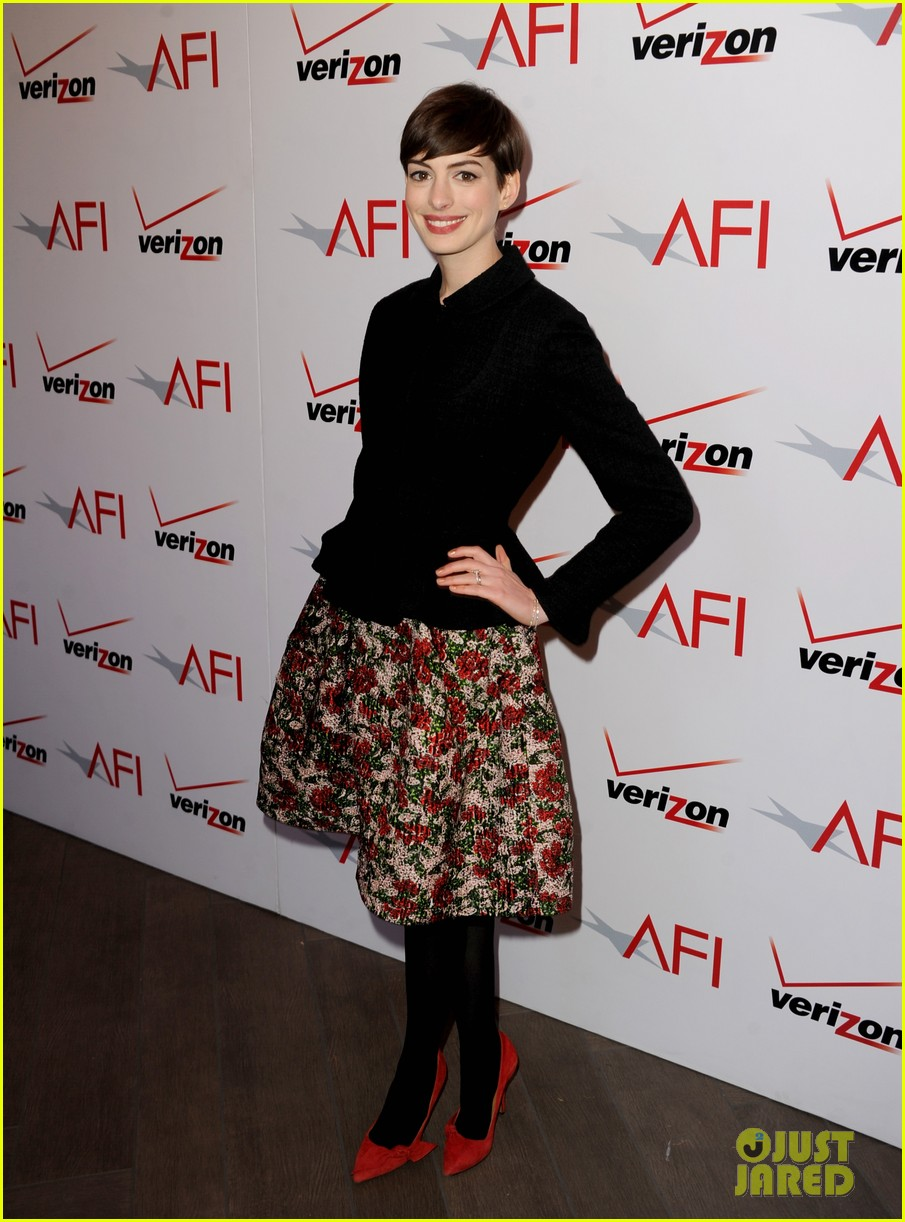 anne hathaway afi awards 2013 red carpet 01