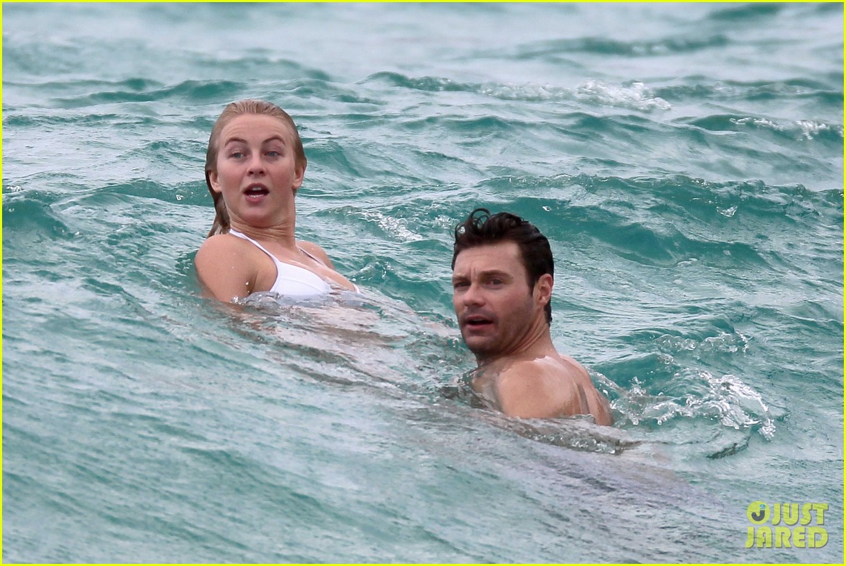 julianne hough bikini swimming with shirtless ryan seacrest 22