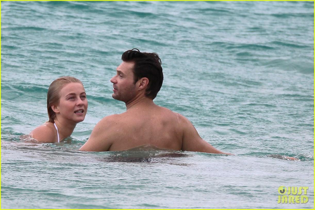 julianne hough bikini swimming with shirtless ryan seacrest 25