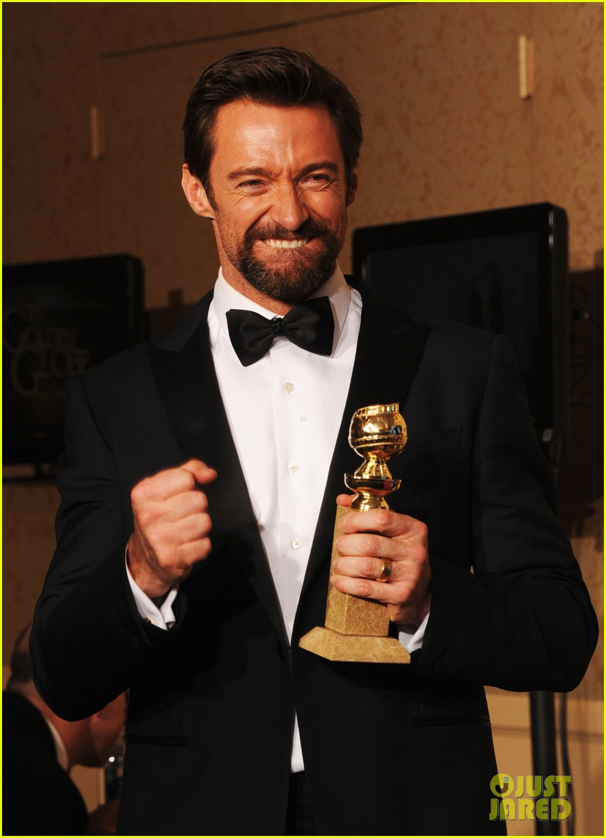 hugh jackman golden globes 2013 red carpet 022791288