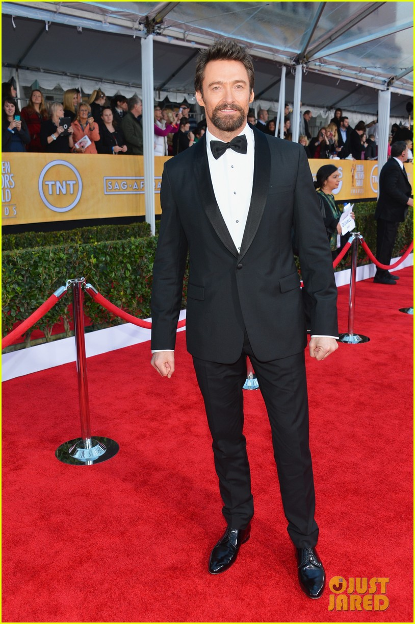 hugh jackman sag awards 2013 red carpet 032799826