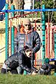 jared padalecki genevieve cortese park playdate with thomas 01
