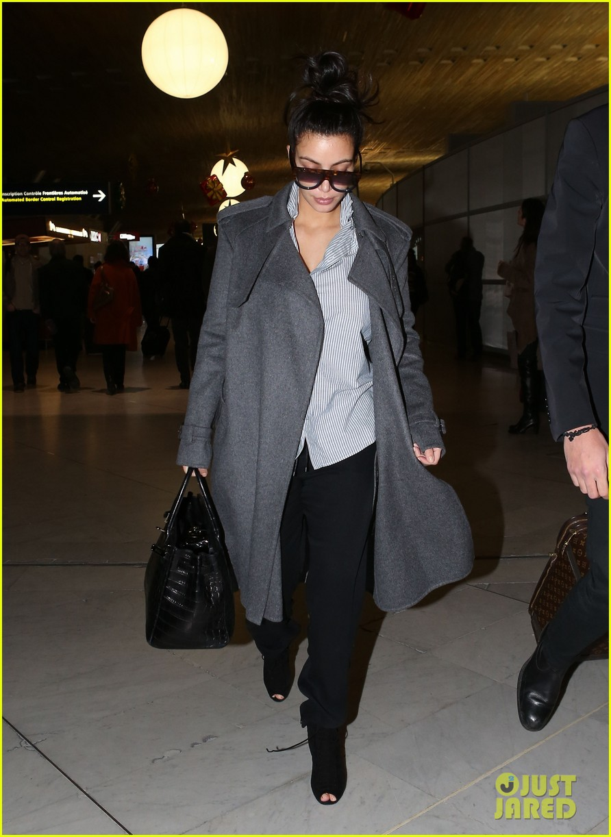 kim kardashian back from paris 13