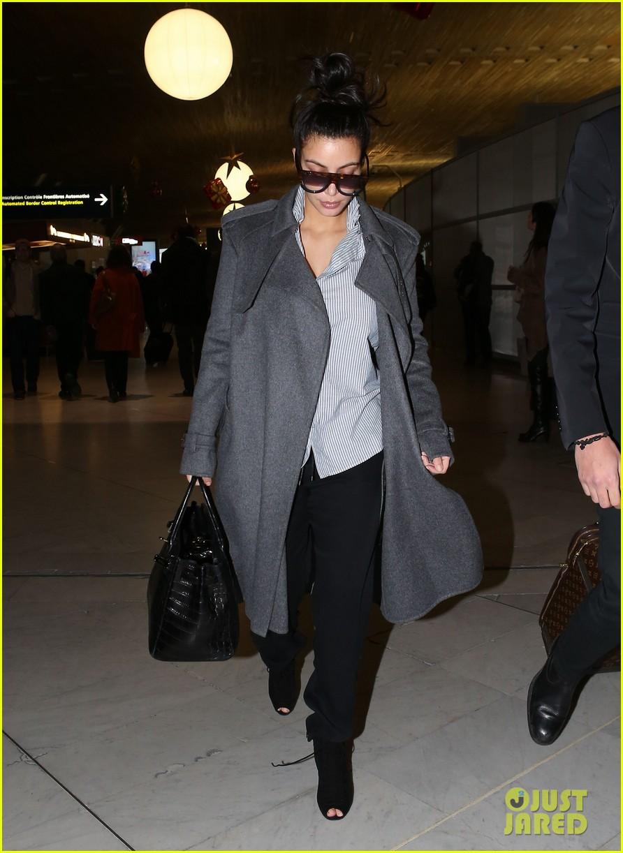 kim kardashian back from paris 13