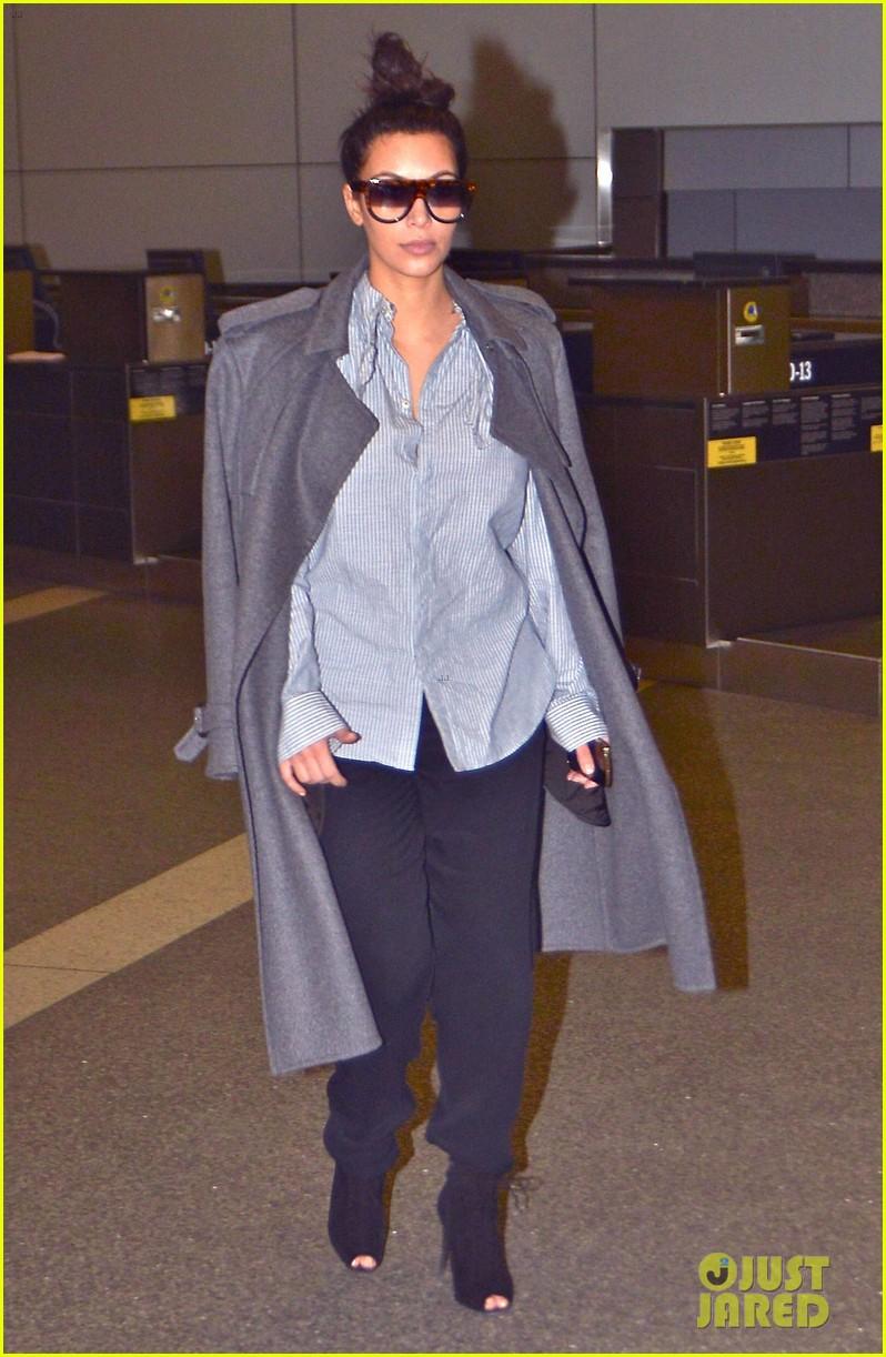 kim kardashian back from paris 15