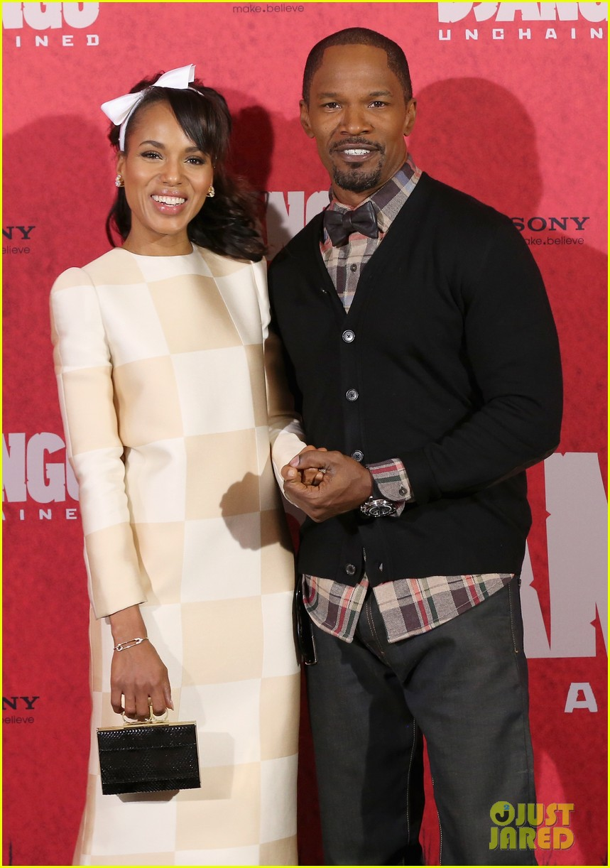 kerry washington jamie foxx django berlin photo call 02