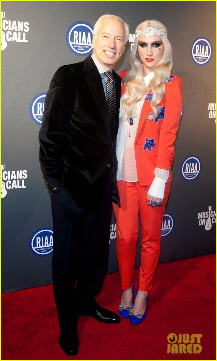kesha red white blue for riaa inaugural ball 2013 032796504