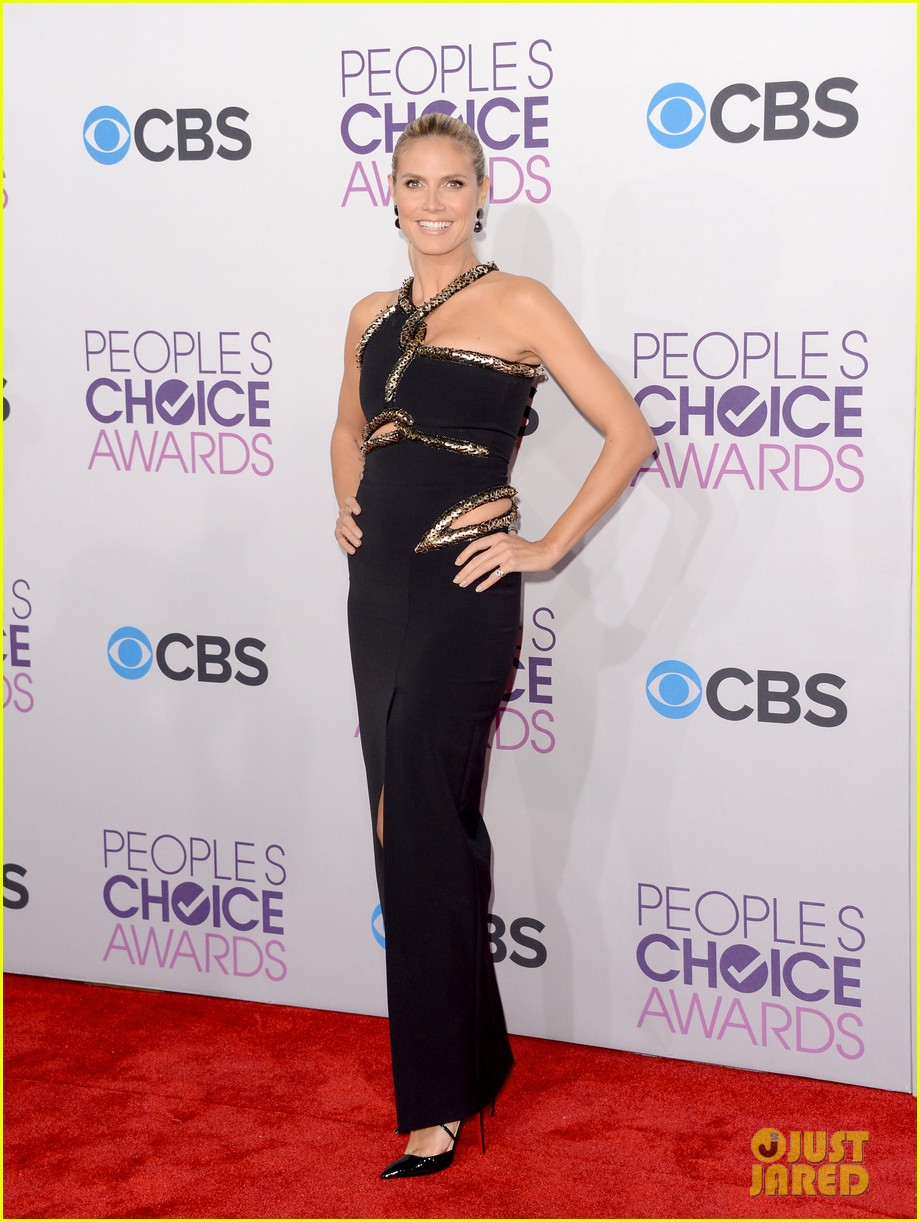 heidi klum peoples choice awards 2013 red carpet 07