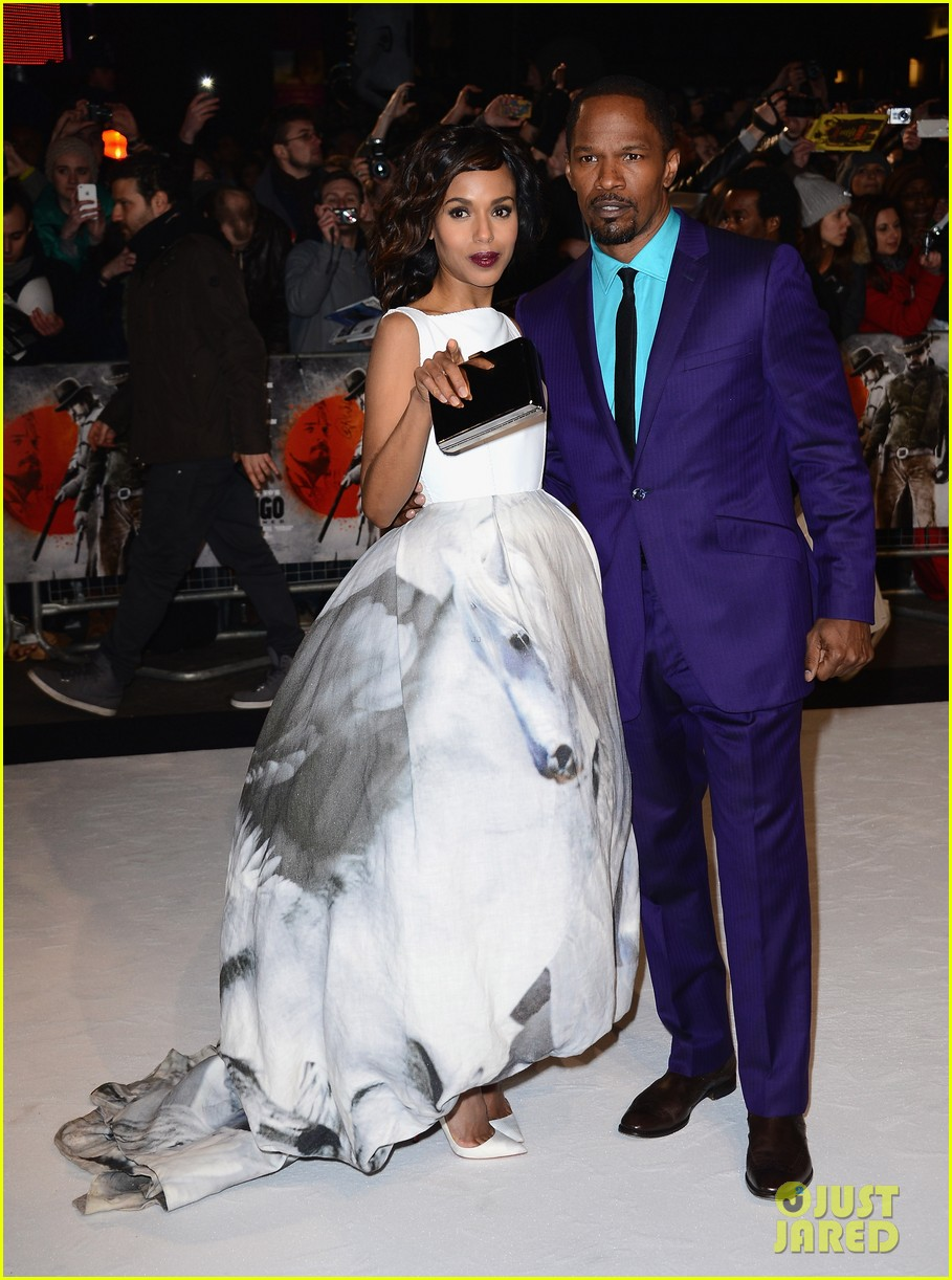 kerry washington jamie foxx django unchained uk premiere 082788522
