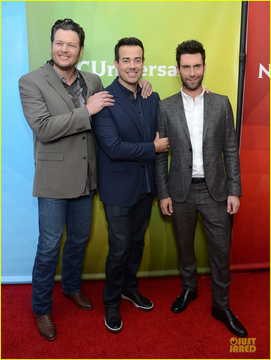 adam levine & blake shelton the voice tca press tour 01