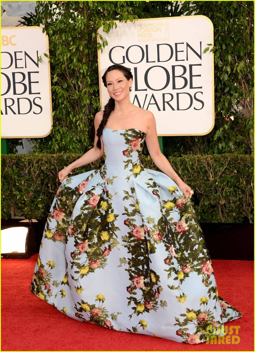 lucy liu golden globes 2013 red carpet 04