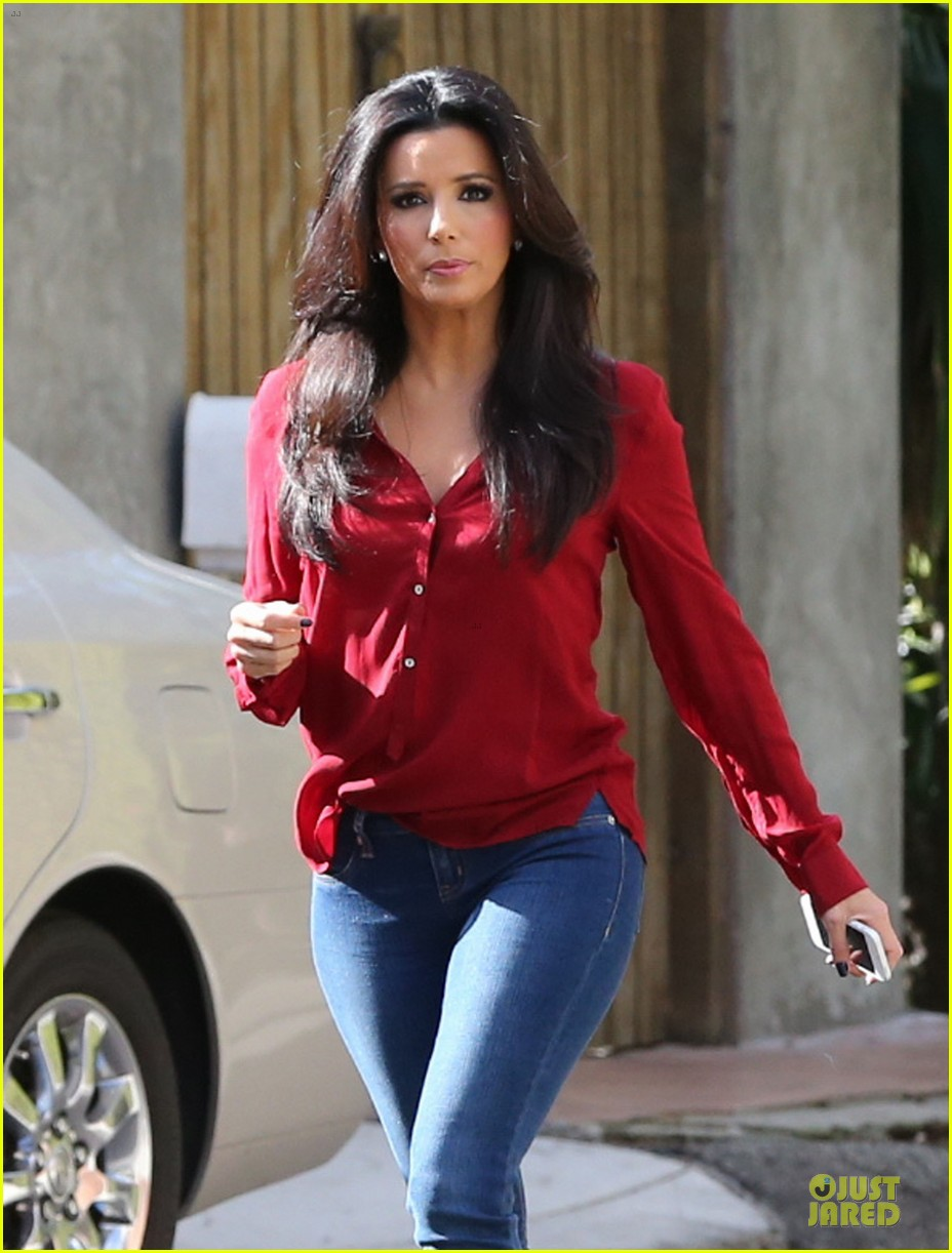 eva longoria red hot work day in santa monica 04