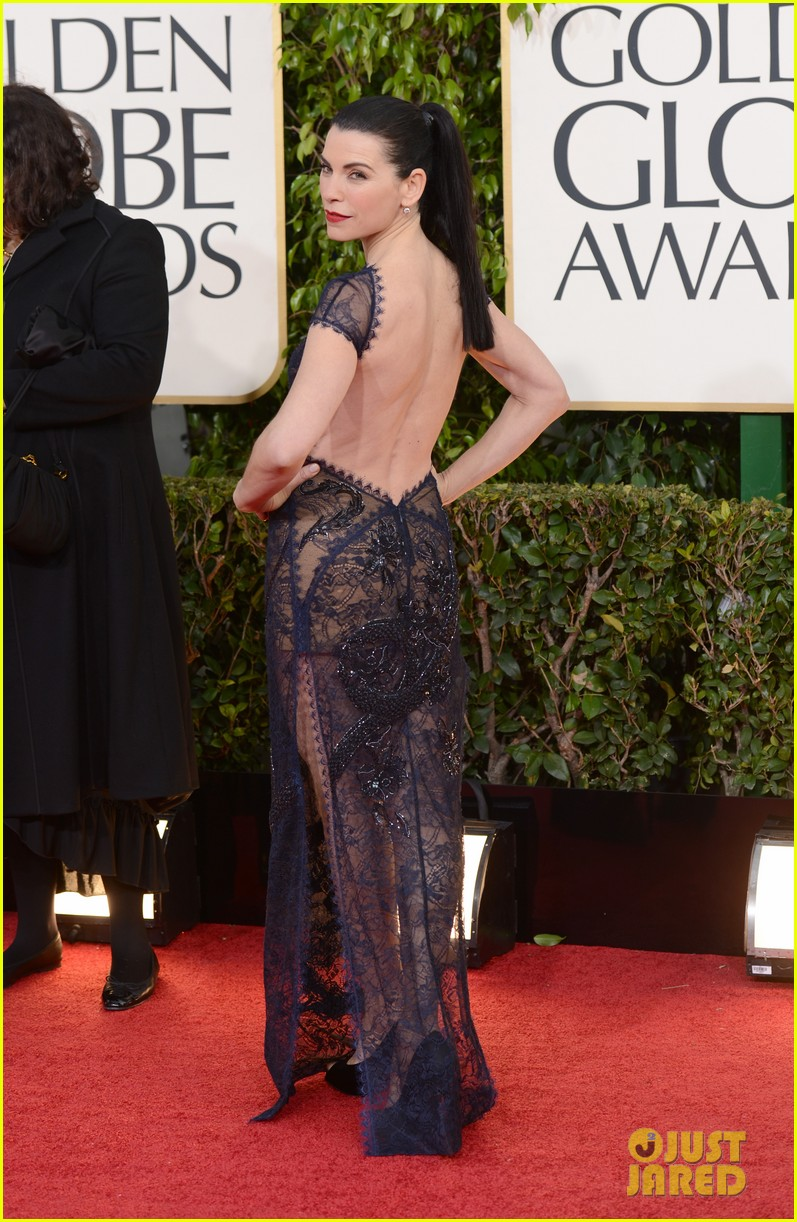 julianna margulies golden globes 2013 red carpet 102791823