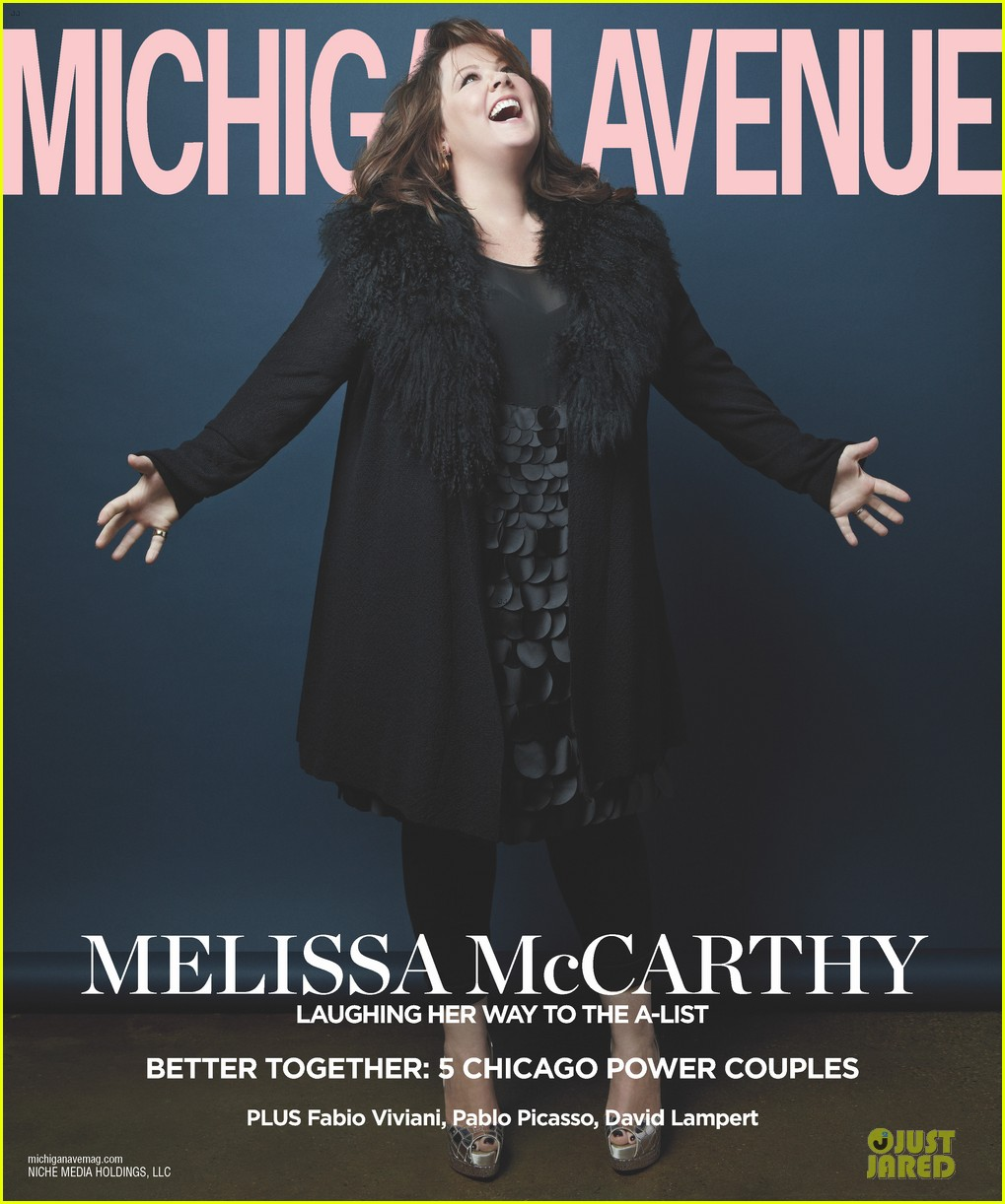 melissa mccarthy covers michigan avenue magazine winter 2013 02