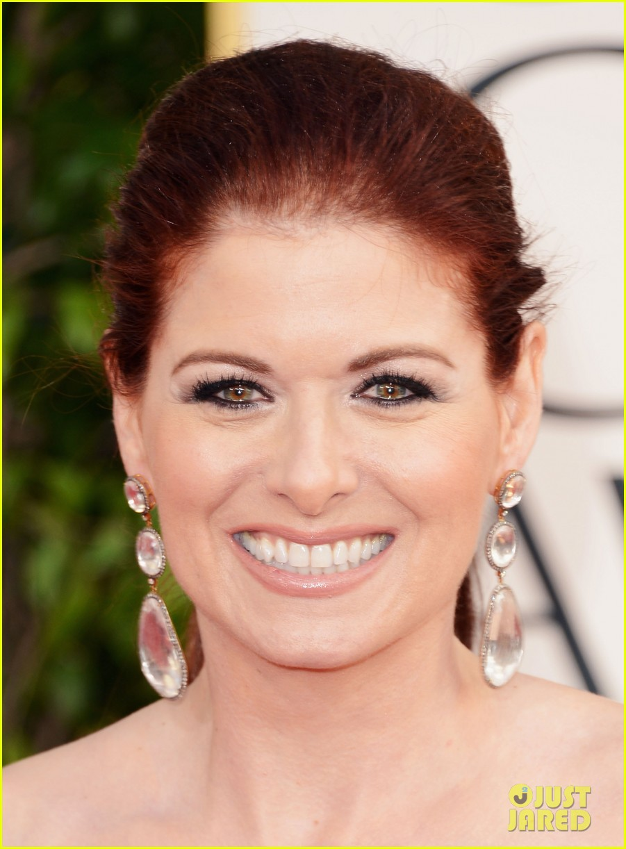 debra messing jack davenport golden globes 2013 red carpet 092790842